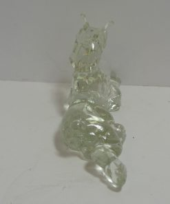 Vintage Glass Reclining Boxer Dog- Dog's Tale Collectibles
