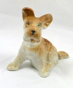Vintage Porcelain Terrier Pup- Dog's Tale Collectibles