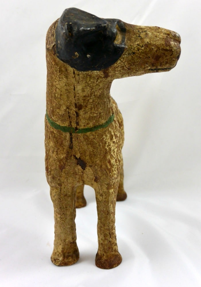 Cast Iron Hubley Fox Terrier Door Stop C 1930 1940 A Dog
