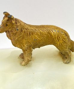 """""""Bronze Collie Dog 1920-1930 Side View- Dog's Tale Collectibles"""""""