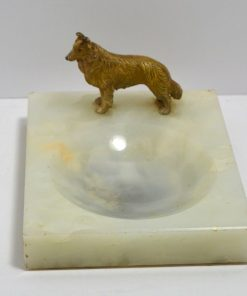 Alabaster Trinket Dish with Cold Side123- Dog's Tale Collectibles