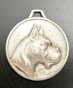 Boxer Dog Pendant Medal Front View- Dog's Tale Collectibles