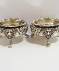 Pair of Open Master Salts George Front 5- Dog's Tale Collectibles