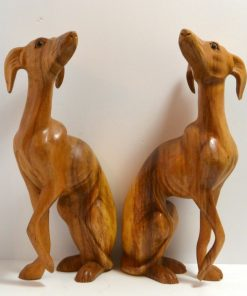 Pair of Whippet Dog Figurines Front - Dog's Tale Collectibles
