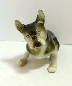 Royal Dux Bohemia Boston Terrier Dog Front- Dog's Tale Collectibles