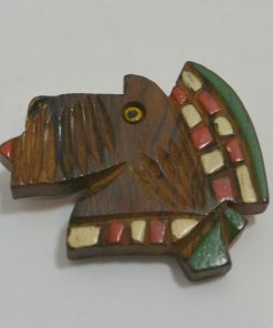 Wood Scottish Terrier Pin Front- Dog's Tale Collectibles