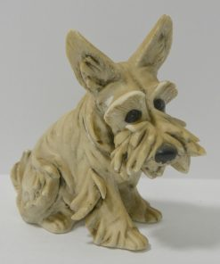 Vintage Miniature Cacciapuoti Terrier Dog Side- Dog's Tale Collectibles