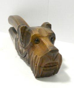 Anri Figural Schnauzer Dog Side 985- Dog's Tale Collectibles