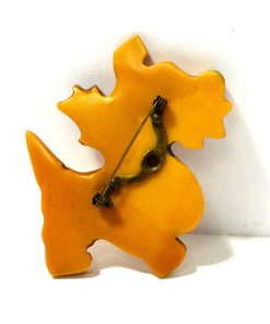 Scottish Terrier with Bow Pin Back- Dog's Tale Collectibles
